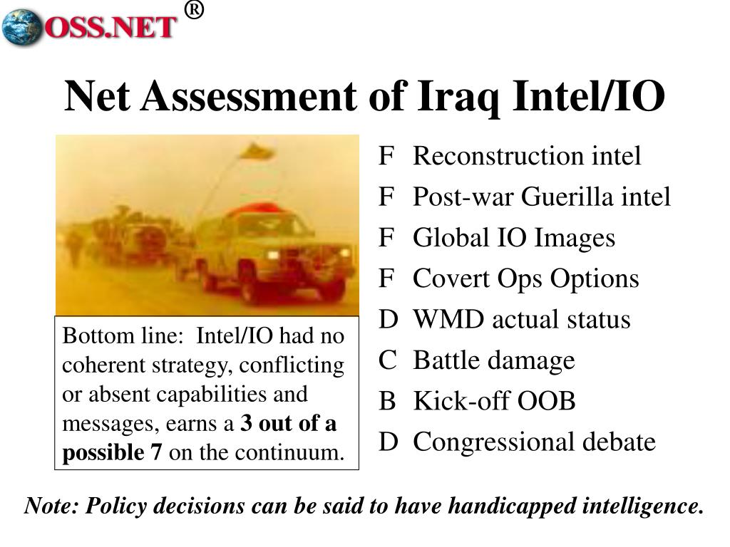 Net Assessment of Iraq Intel/IO