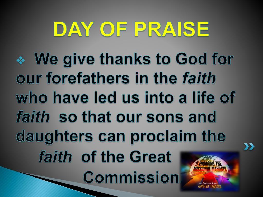 DAY OF PRAISE
