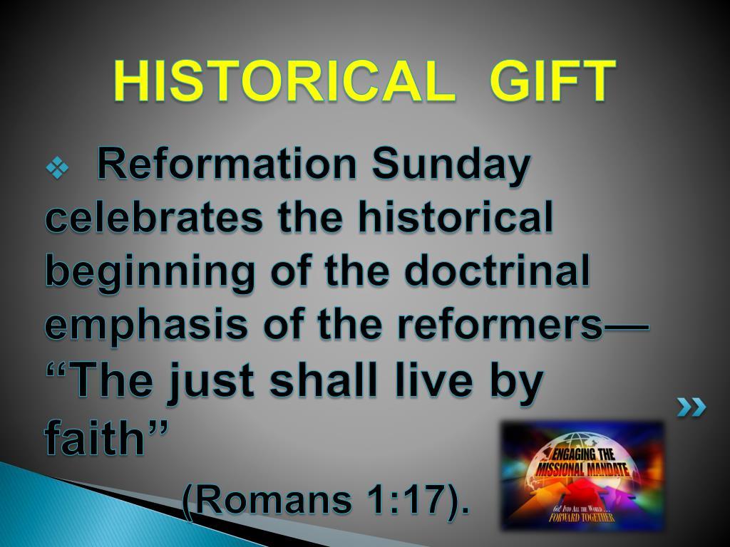 HISTORICAL  GIFT
