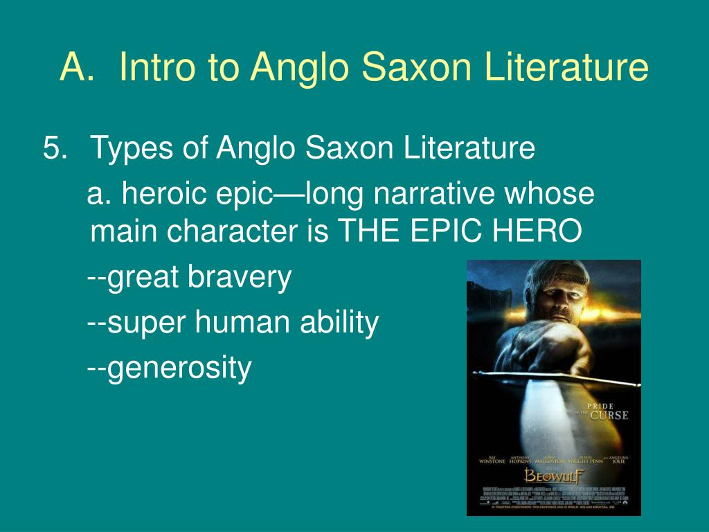 beowulf and the anglo saxon ideal