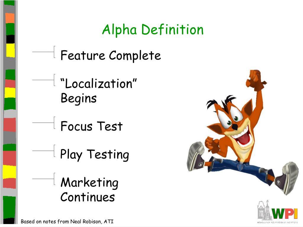 Alpha Definition