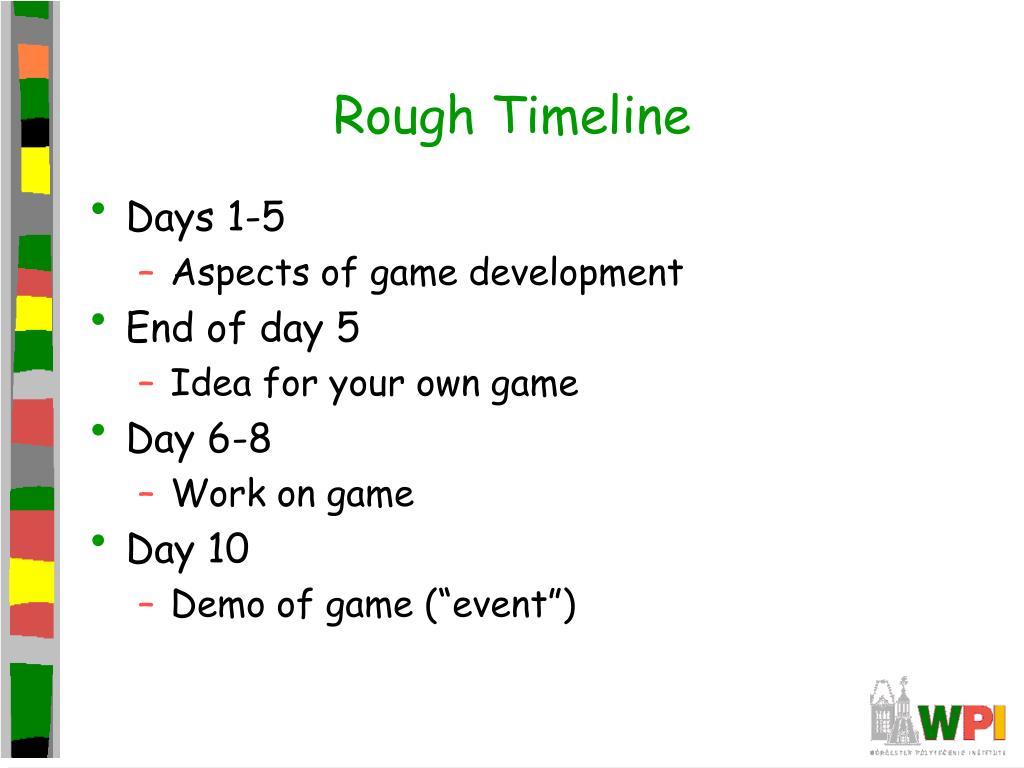 Rough Timeline