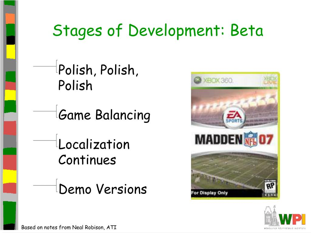 Stages of Development: Beta
