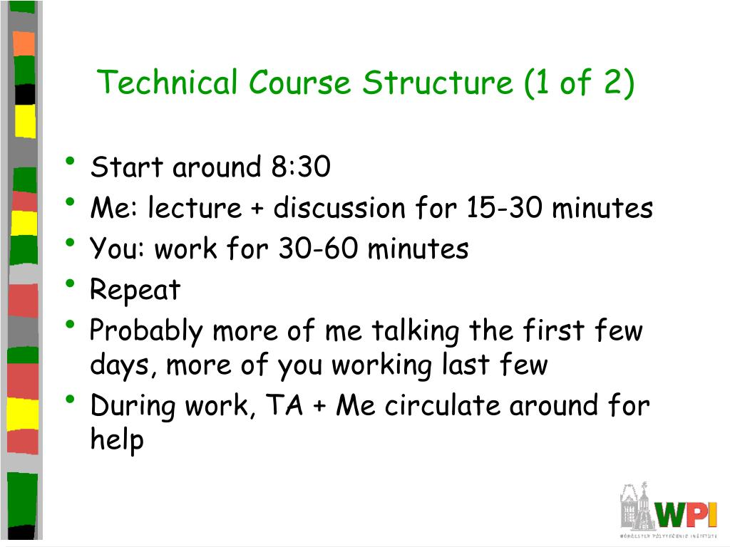 Technical Course Structure (1 of 2)