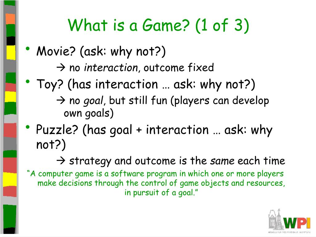 What is a Game? (1 of 3)