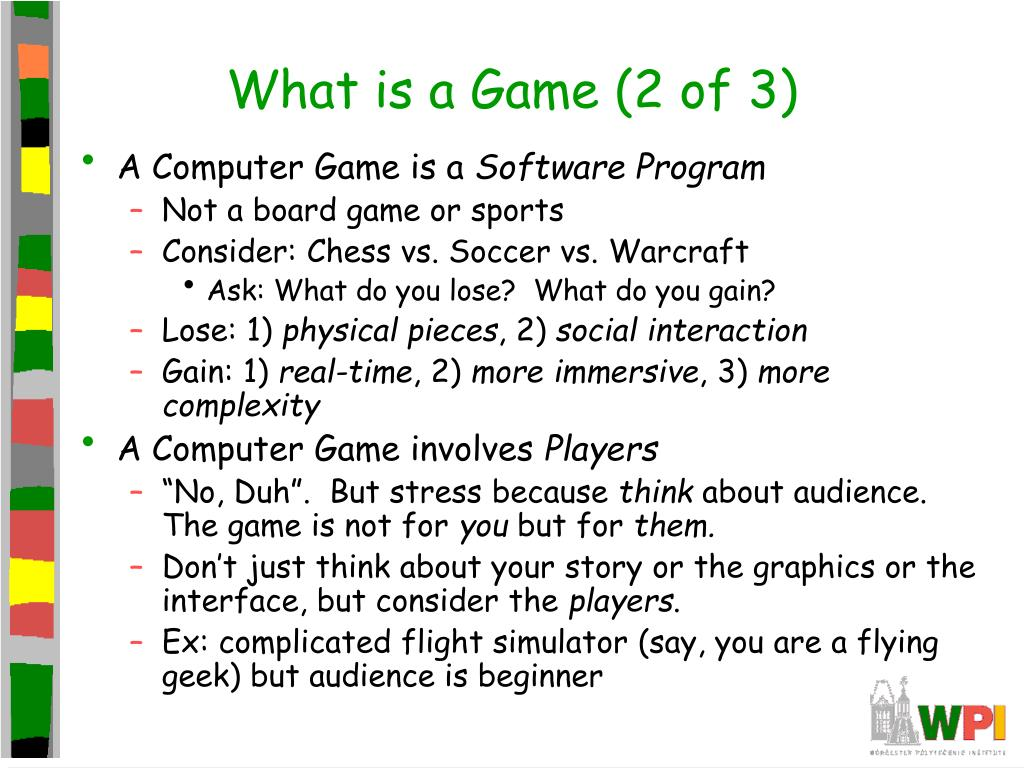 What is a Game (2 of 3)