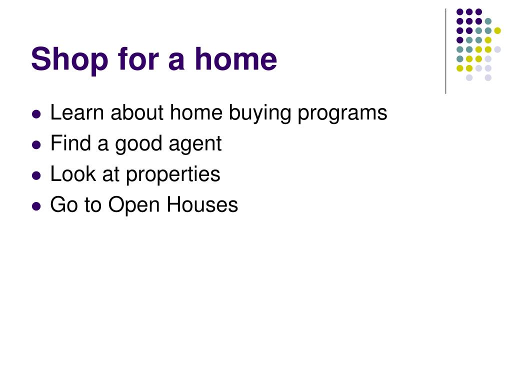 Shop for a home
