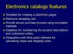 electronics catalogs features