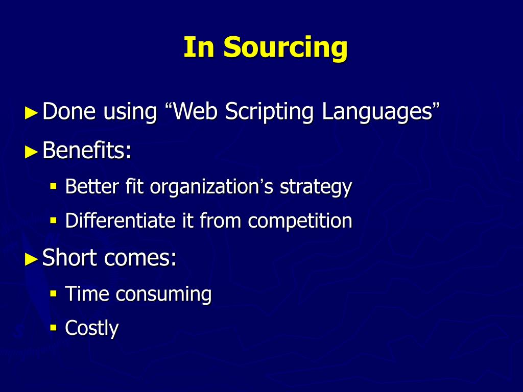 In Sourcing