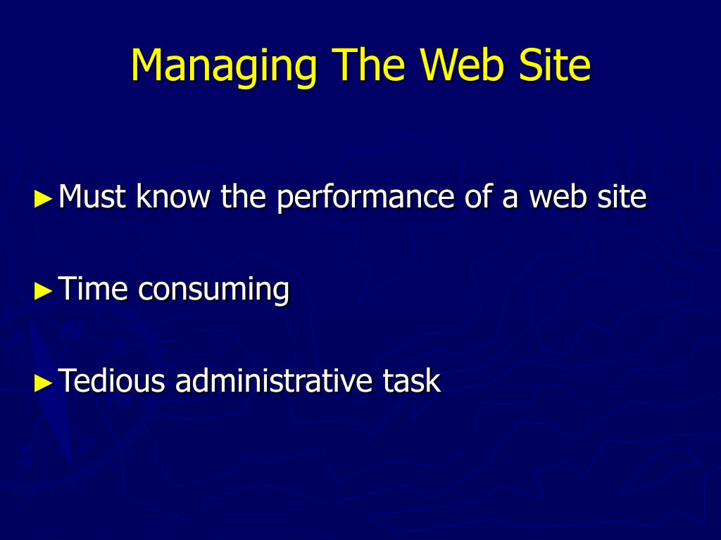 Managing The Web Site