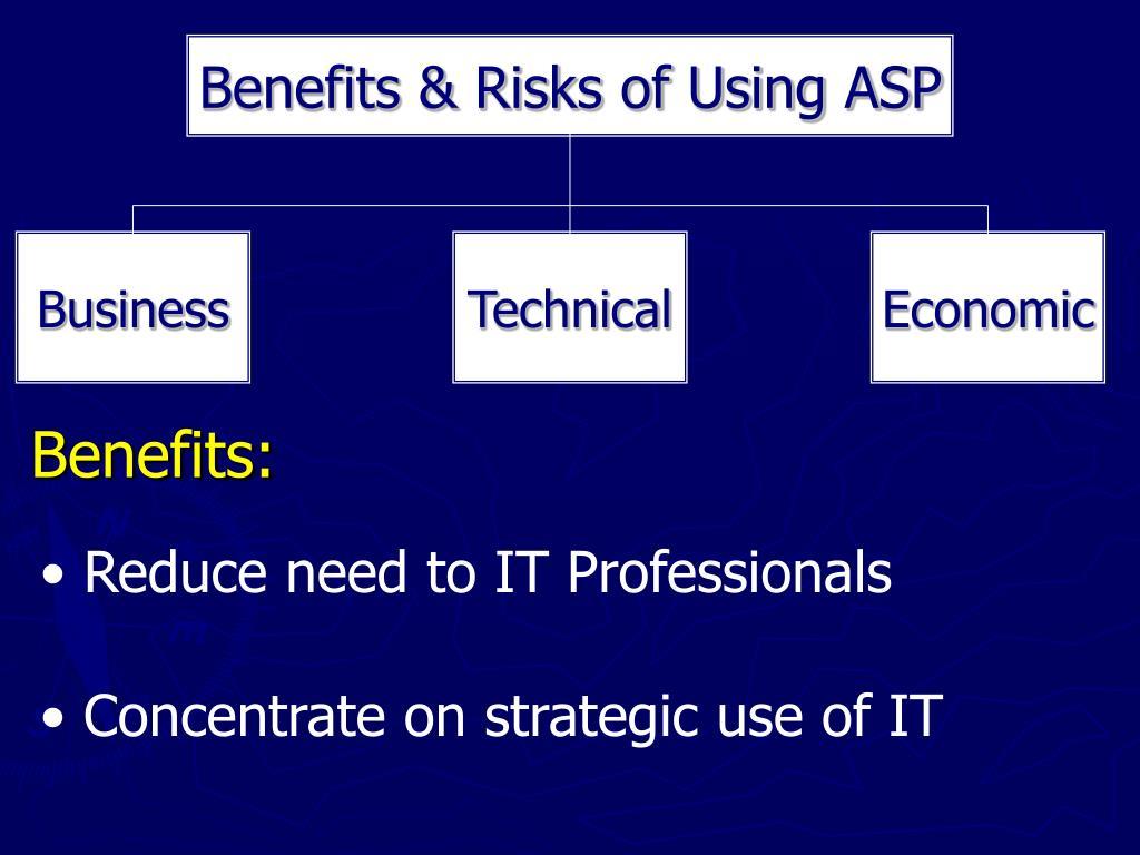 Benefits & Risks of Using ASP