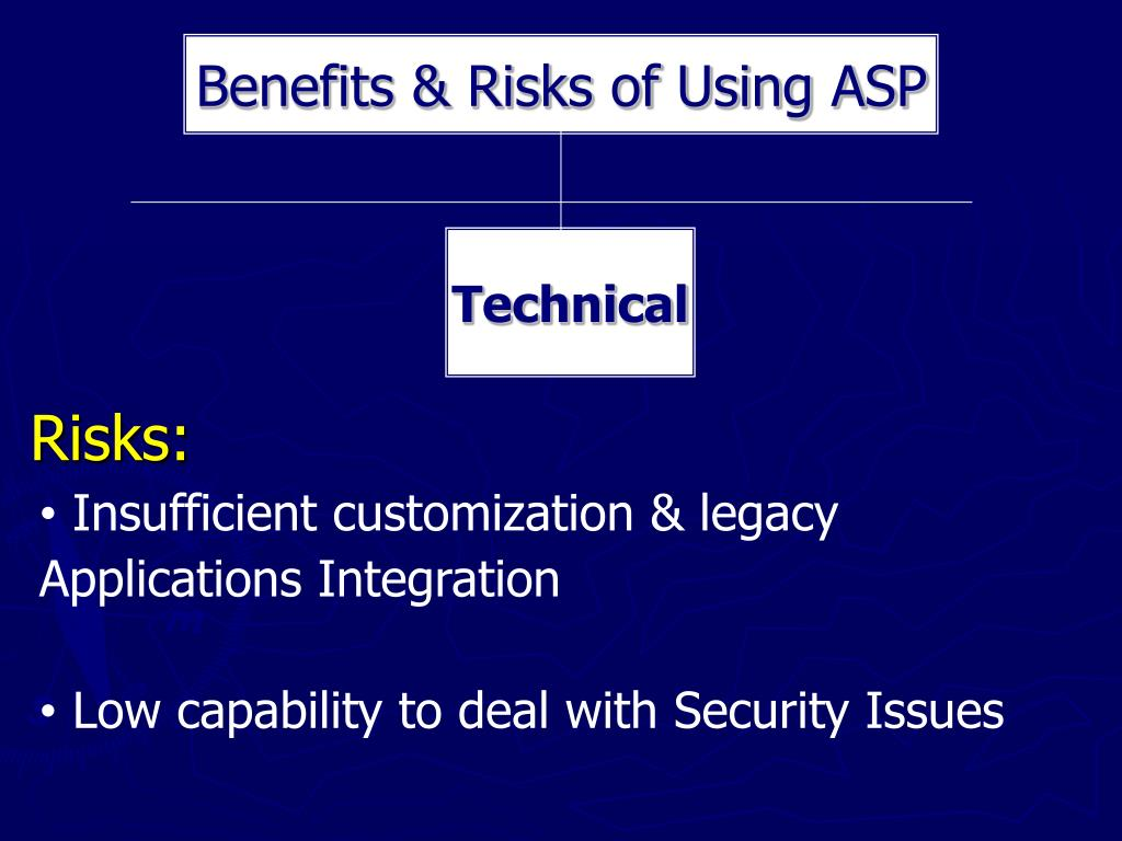 Benefits & Risks of Using ASP