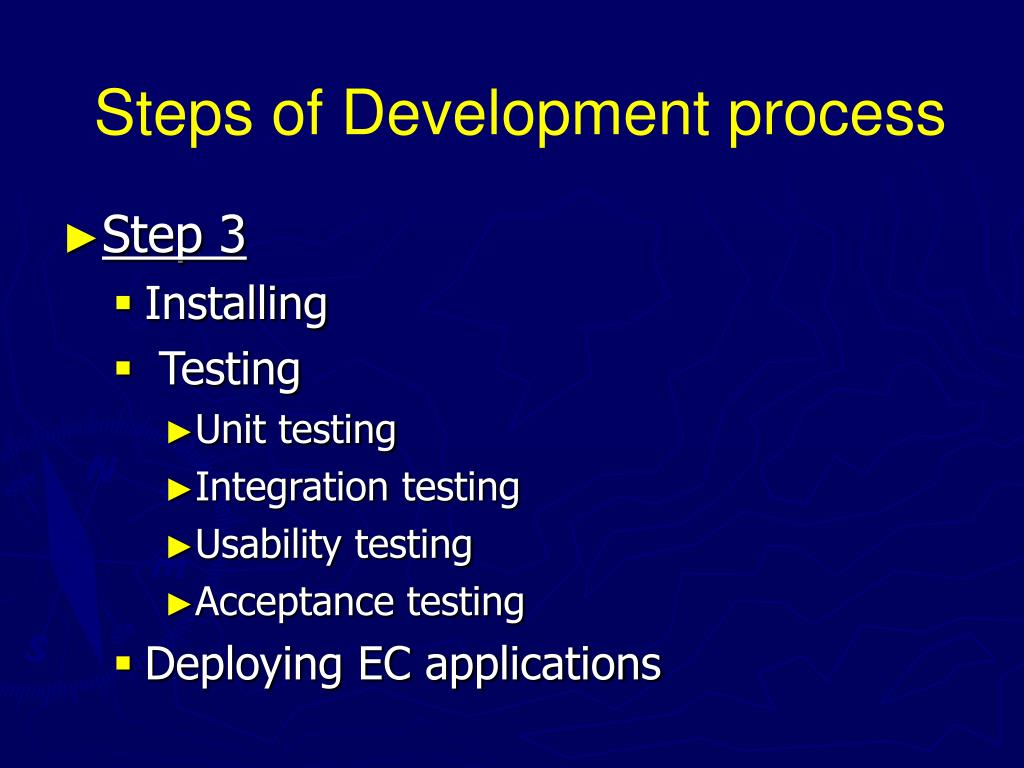 Steps of Development process