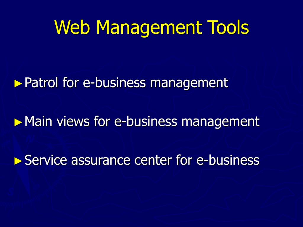 Web Management Tools