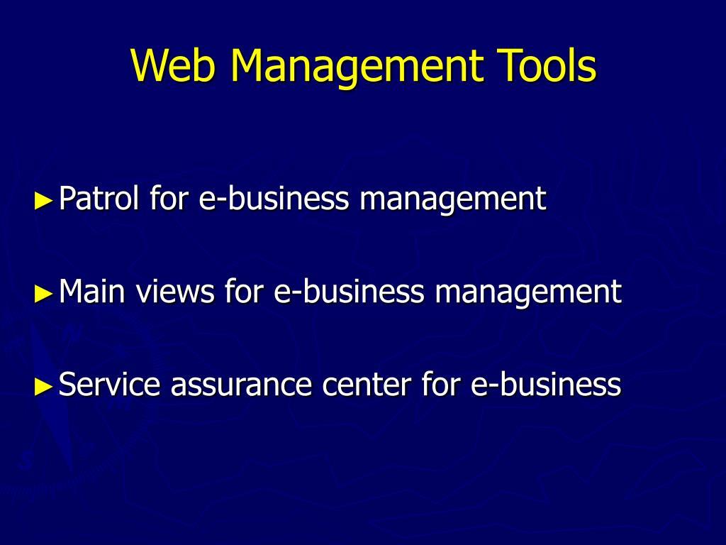 Web Management Tools