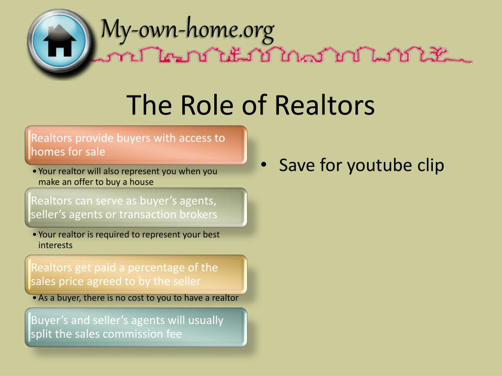 The Role of Realtors