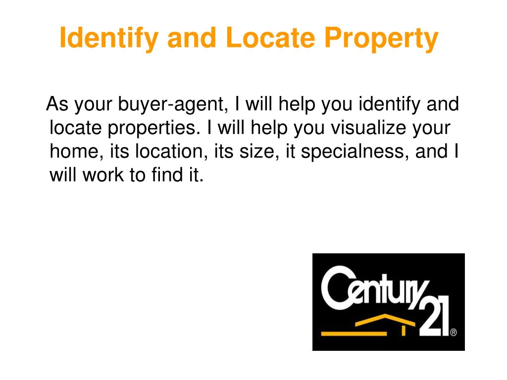 Identify and Locate Property