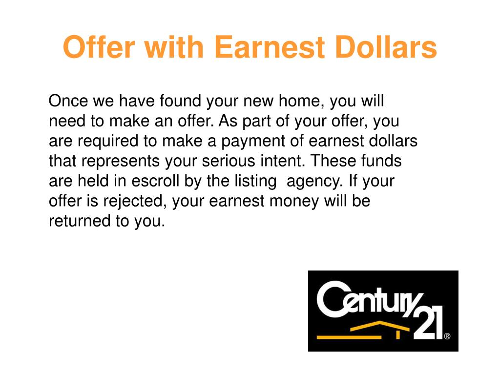 Offer with Earnest Dollars