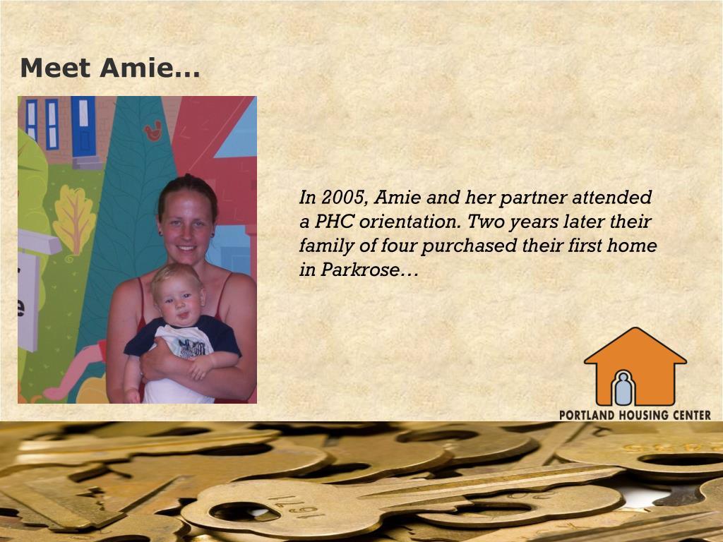 Meet Amie…