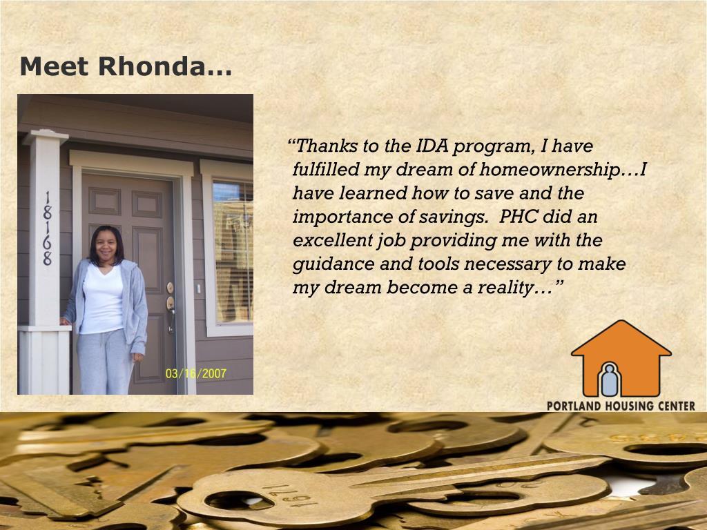 Meet Rhonda…
