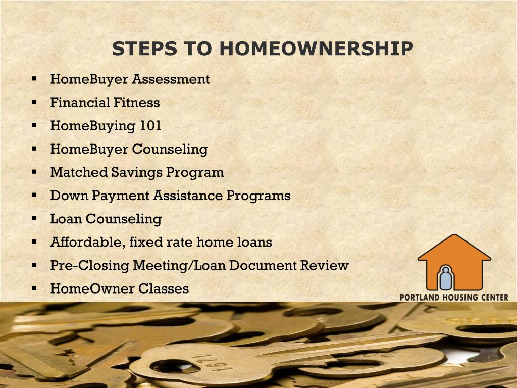 STEPS TO HOMEOWNERSHIP