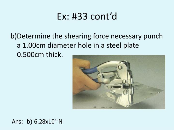 Ex: #33 cont'd