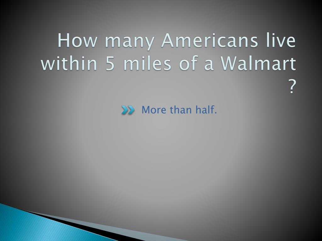 How many Americans live within 5 miles of a