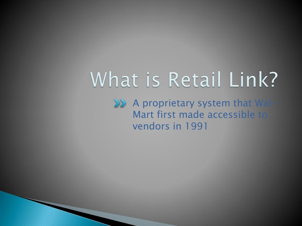 What is Retail Link?