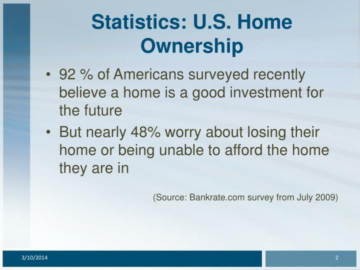 Statistics u s home ownership