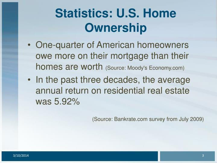 Statistics u s home ownership3