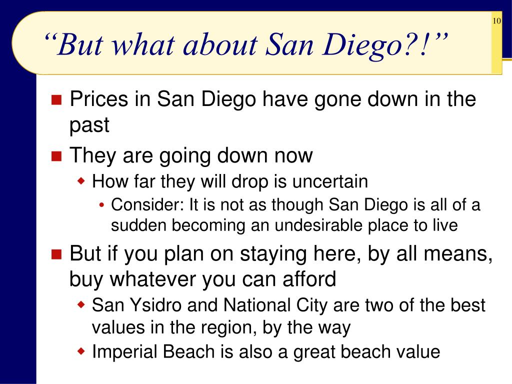 """But what about San Diego?!"""