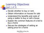learning objectives part 1 of 3