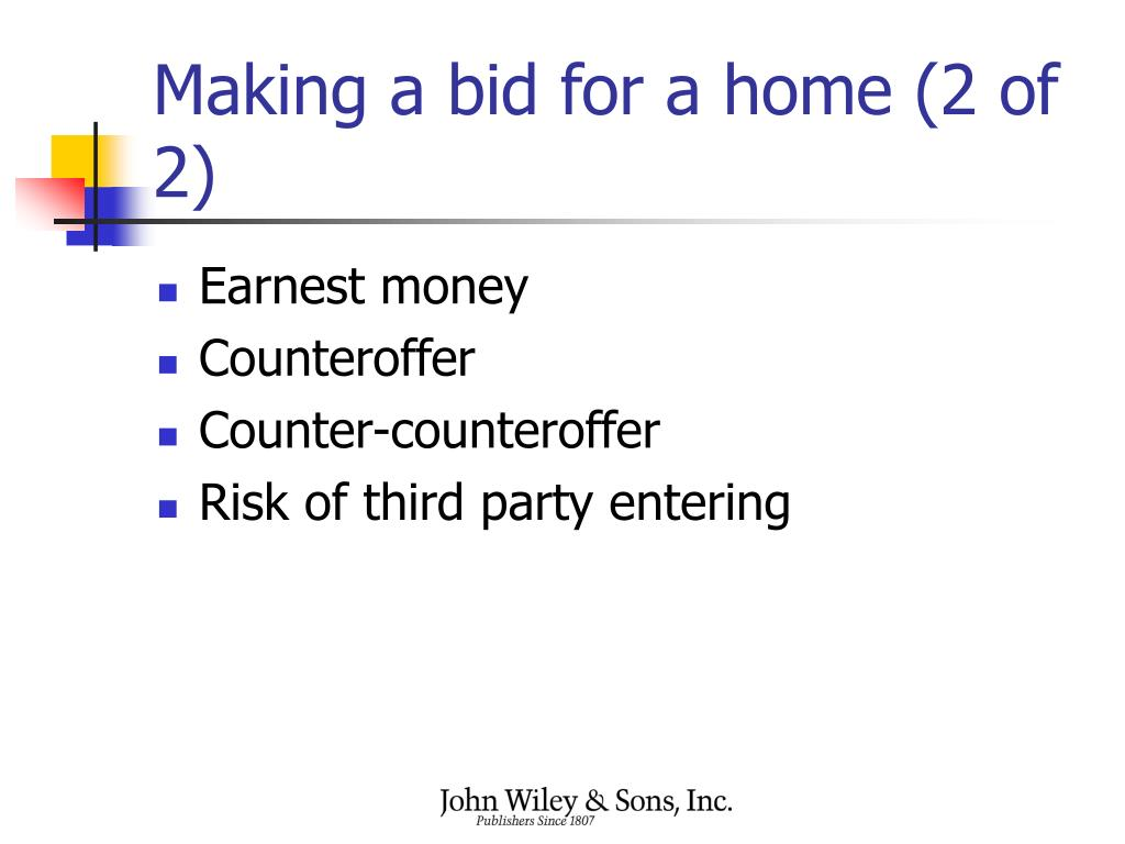 Making a bid for a home (2 of 2)
