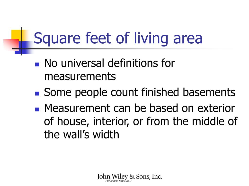 Square feet of living area