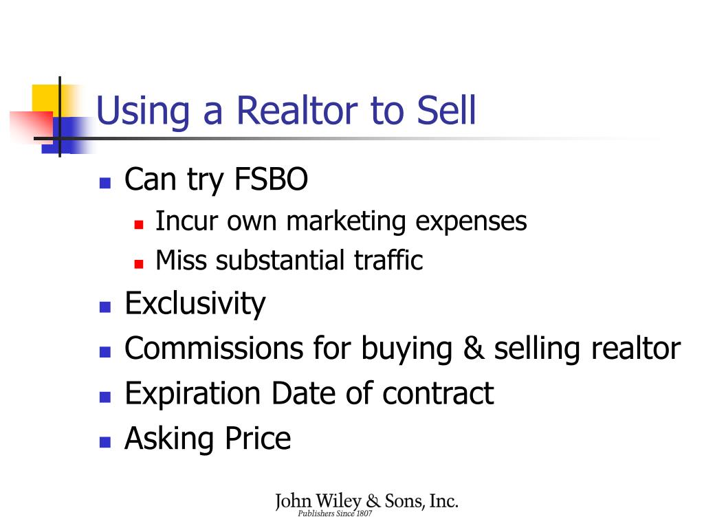 Using a Realtor to Sell