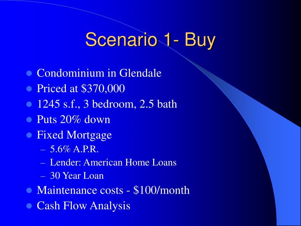 Scenario 1- Buy