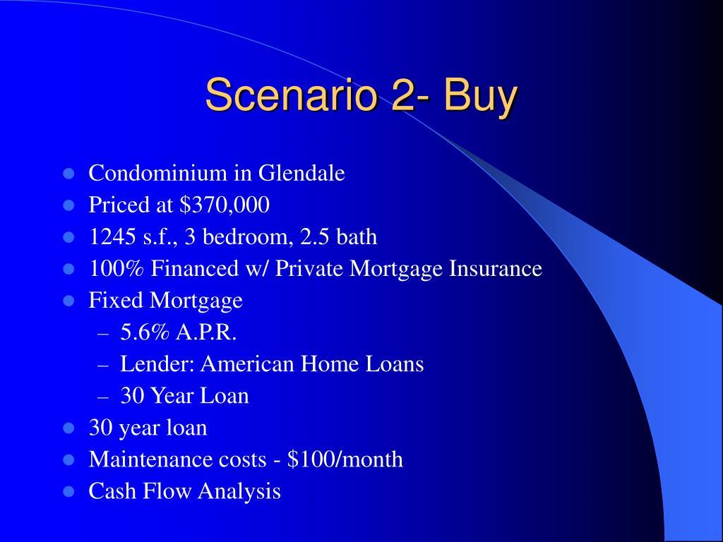 Scenario 2- Buy