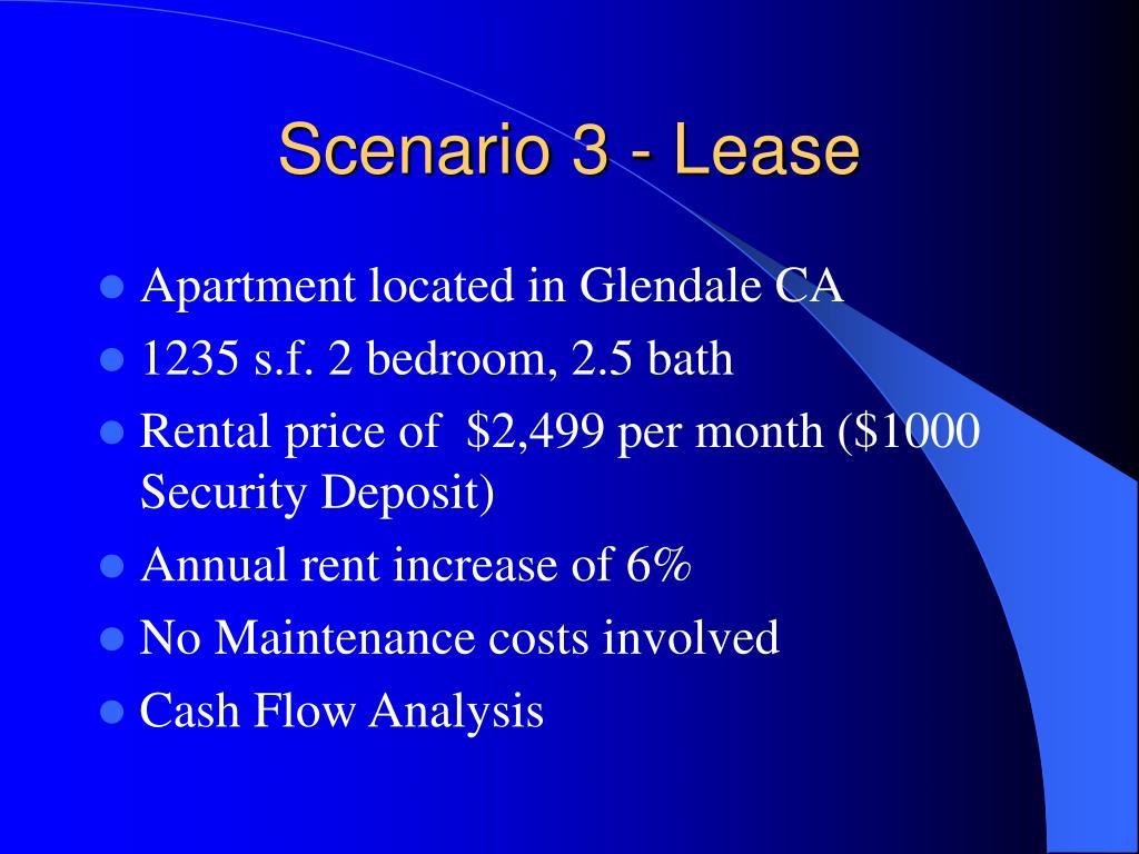 Scenario 3 - Lease