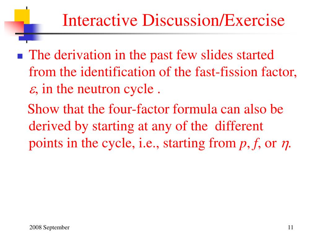 Interactive Discussion/Exercise