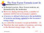 the four factor formula cont d7
