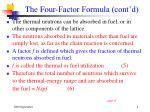 the four factor formula cont d8