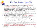 the four factors cont d