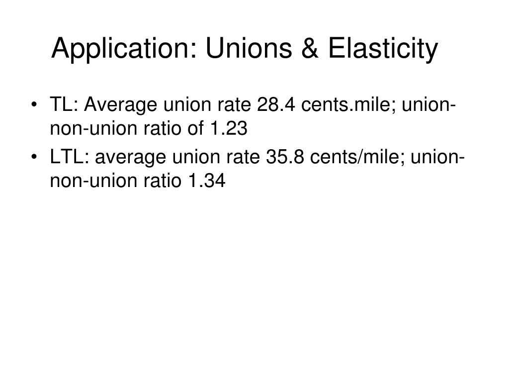 Application: Unions & Elasticity
