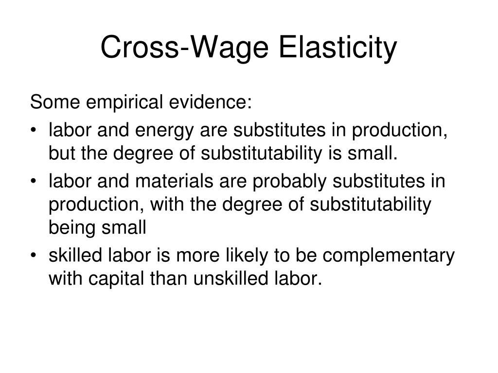 Cross-Wage Elasticity