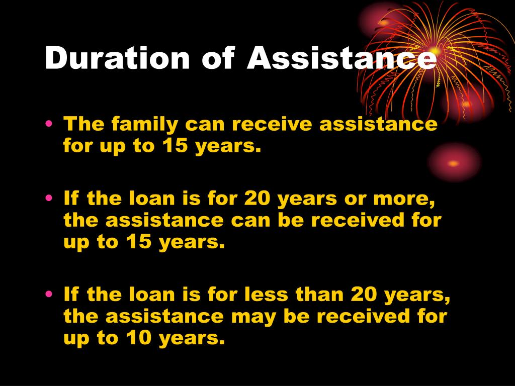 Duration of Assistance