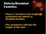 elderly disabled families