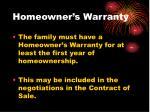 homeowner s warranty