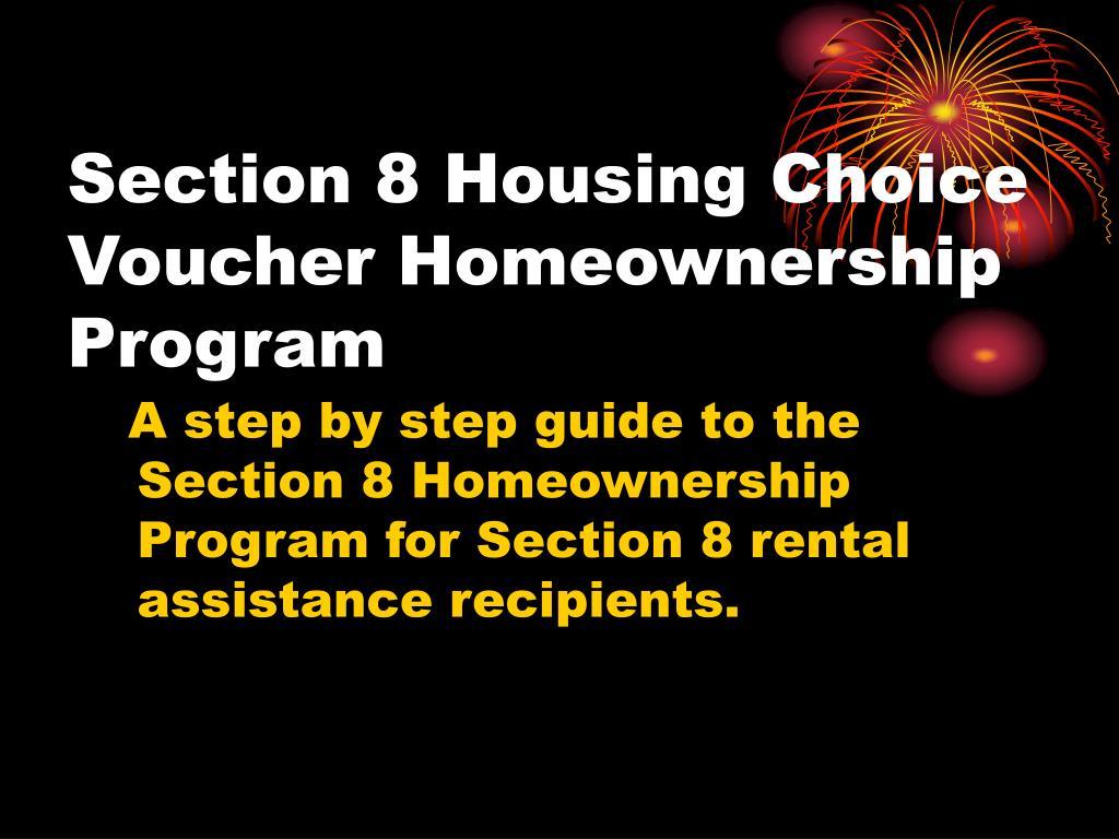 Section 8 Housing Choice Voucher Homeownership Program