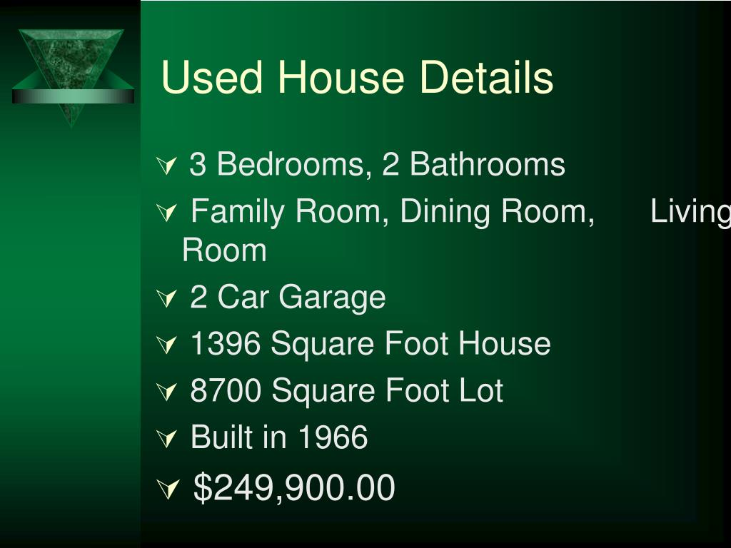 Used House Details