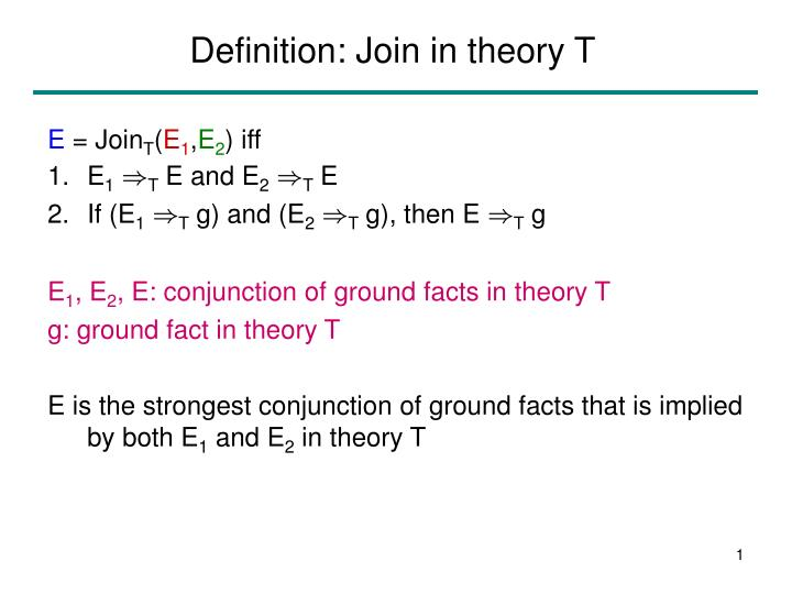 Definition join in theory t